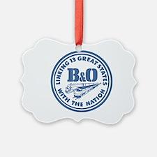 Baltimore and Ohio 13 states rail Ornament