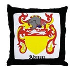Abney Coat of Arms Throw Pillow