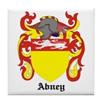 Abney Coat of Arms Tile Coaster