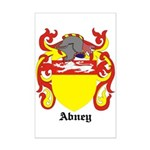 Abney Coat of Arms Mini Poster Print