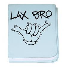 Hang Loose Lax Bro baby blanket