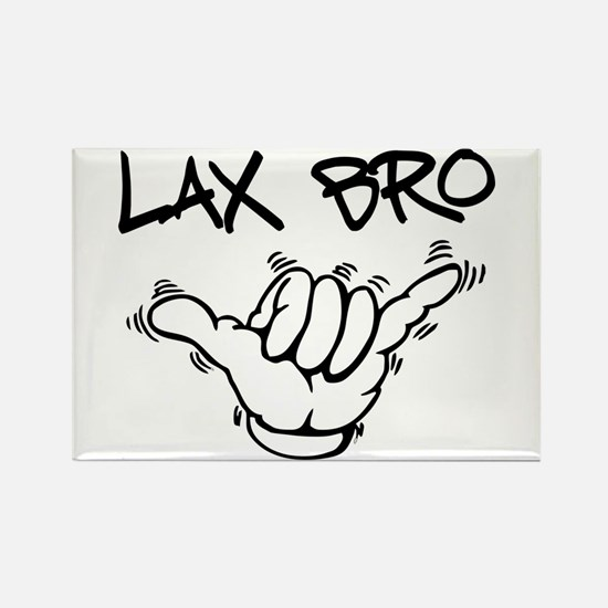 Hang Loose Lax Bro Rectangle Magnet