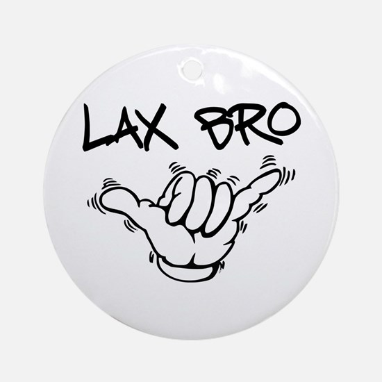 Hang Loose Lax Bro Ornament (Round)