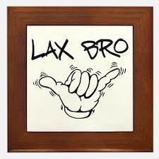 Hang Loose Lax Bro Framed Tile