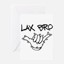 Hang Loose Lax Bro Greeting Card