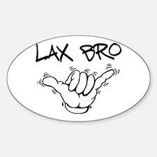 Hang Loose Lax Bro Sticker (Oval)