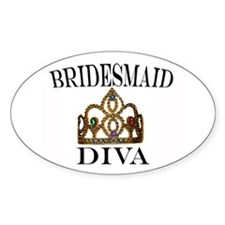 Bridesmaid DIVA Gift Oval Decal