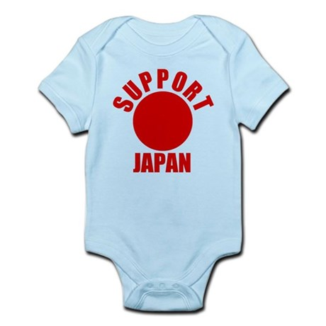 Support Japan Red Infant Bodysuit