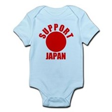 Support Japan Red Infant Bodysuit