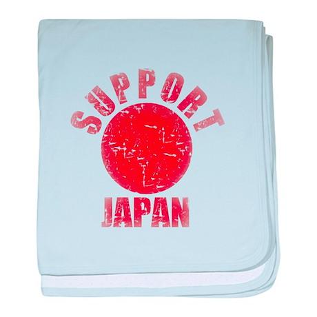 Vintage Support Japan Red baby blanket