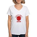 Vintage Support Japan Red Women's V-Neck T-Shirt