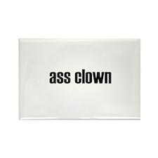ass clown rectangle magnet (10 pack)