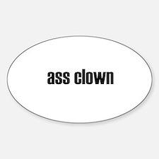 ass clown oval Decal