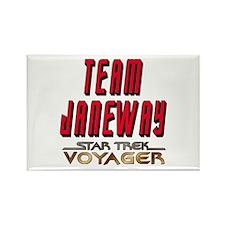Team Janeway Star Trek Voyager Rectangle Magnet (1