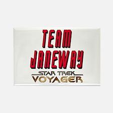 Team Janeway Star Trek Voyager Rectangle Magnet