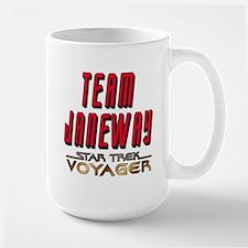 Team Janeway Star Trek Voyager Large Mug