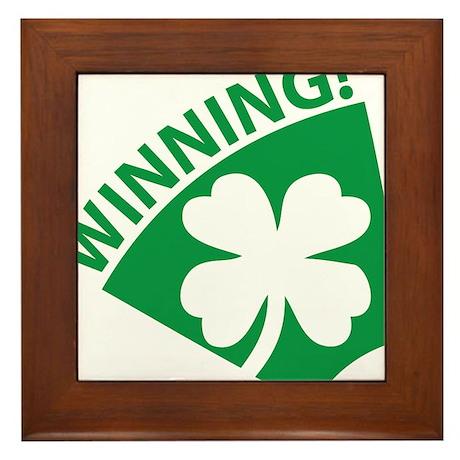 St. Patrick's Day Winning! Framed Tile