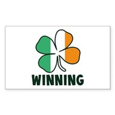 Winning Irish Shamrock Decal