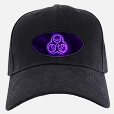 Purple Glow Biohazard Baseball Hat