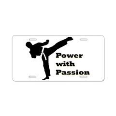 Power with Passion Aluminum License Plate