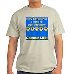 Choose Life Five Flowers Natu Ash Grey T-Shirt
