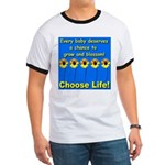 Choose Life Five Flowers Natu Ringer T
