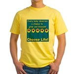 Choose Life Five Flowers Natu Yellow T-Shirt