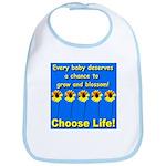 Choose Life Five Flowers Natu Bib