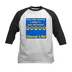 Choose Life Five Flowers Natu Kids Baseball Jersey