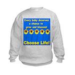 Choose Life Five Flowers Natu Kids Sweatshirt