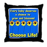 Choose Life Five Flowers Natu Throw Pillow