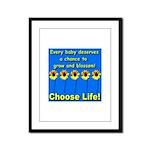 Choose Life Five Flowers Natu Framed Panel Print