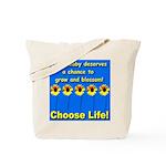 Choose Life Five Flowers Natu Tote Bag