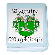 Maguire In Irish & English baby blanket
