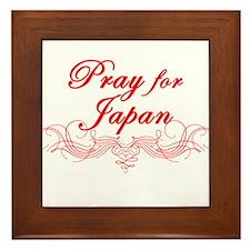 Pray for Japan Framed Tile