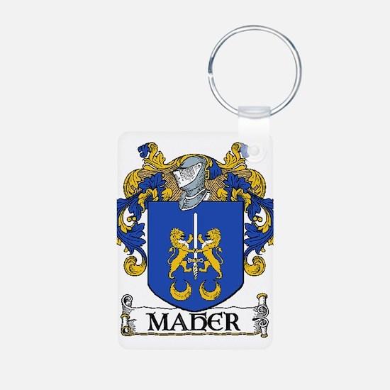 Maher Coat of Arms Aluminum Photo Keychain