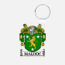 Malone Coat of Arms Aluminum Photo Keychain