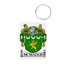 McManus Coat of Arms Aluminum Photo Keychain