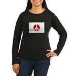 Peace Japan Women's Long Sleeve Dark T-Shirt