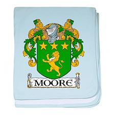 Moore Coat of Arms baby blanket