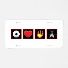 I Love Firefly Aluminum License Plate