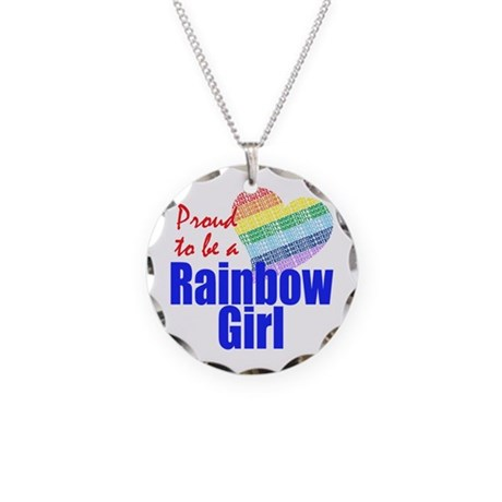 Order of the Rainbow for Girl Necklace Circle Char