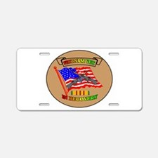 VIET VET IN RECOVERY Aluminum License Plate