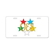 OES Circle of Stars Aluminum License Plate