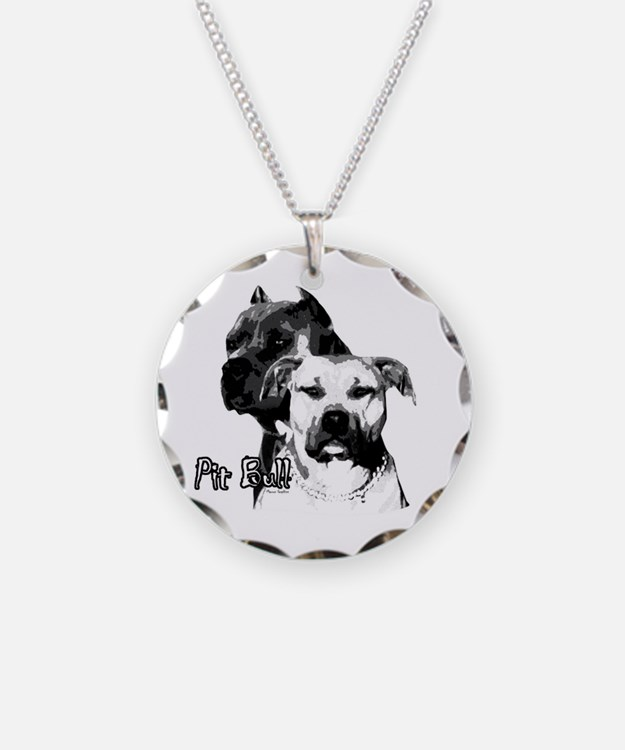 Two tone bully design Necklace Circle Charm