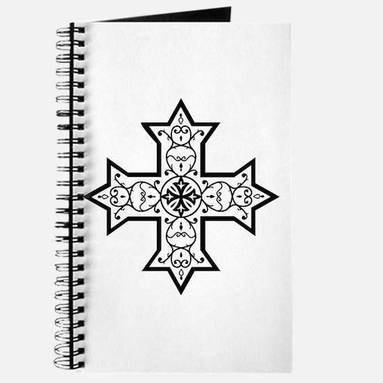 Coptic Cross BW Journal
