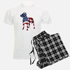 Patriotic Pit Bull Design Pajamas