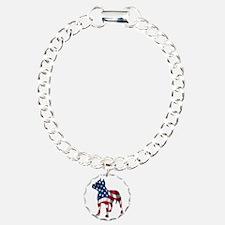 Patriotic Pit Bull Design Bracelet