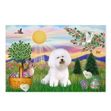 Easter Bichon Frise Postcards (Package of 8)