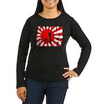 Japan Relief Women's Long Sleeve Dark T-Shirt